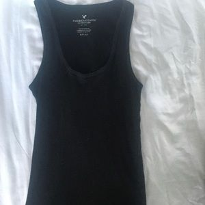 Black American eagle tank top